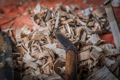 Traditional woodworker tools Royalty Free Stock Image