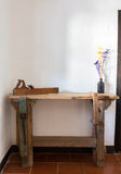 Traditional woodworkers bench Stock Photo