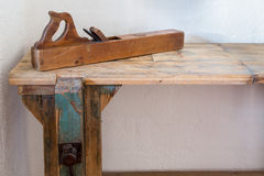 Traditional woodworkers bench Stock Images