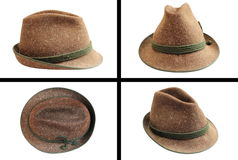 Traditional wool hunting hat Royalty Free Stock Photos