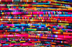 Traditional woven fabric Stock Images
