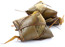 Traditional wrapped rice dumplings Stock Images
