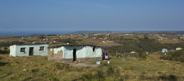 Traditional Xhosa housing in the scenic  Transkei South Africa Royalty Free Stock Photos