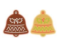 Traditional xmas cookies symbols: jingle bell. Flat christmas de Stock Photo