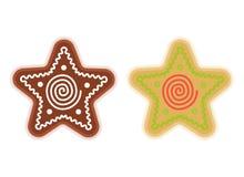 Traditional xmas cookies symbols: star. Flat christmas design el Stock Image