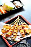 Traditional yakitori. Japan style food Royalty Free Stock Images