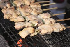Traditional yakitori chicken stand Stock Photography