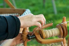 Traditional yarn spinning stock photography