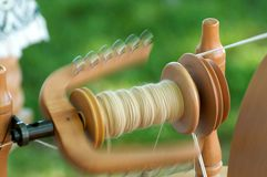 Traditional yarn spinning Stock Images