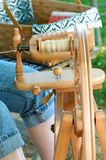 Traditional yarn spinning Royalty Free Stock Photos