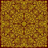 Traditional yellow floral background Royalty Free Stock Photos