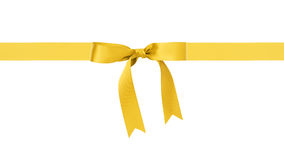 Traditional yellow ribbon bow border Stock Photos