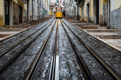 Elevador da bica in Lisbon Royalty Free Stock Image