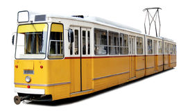 Orange tram Stock Image