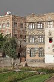 Traditional Yemeni buildings Stock Photo