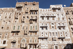 Traditional yemeni buildings in sanaa old town yemen Royalty Free Stock Photo