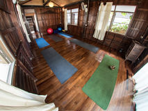 Traditional Yoga Studio in Wooden House Royalty Free Stock Images