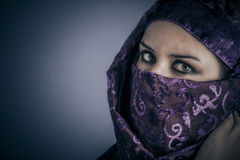 Traditional, Young Arabic woman. Stylish portrait Stock Photo