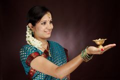 Traditional young woman Stock Photo