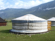 Traditional yurt Stock Photo