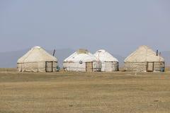 Traditional Yurt Camp at Song Kul Lake in Kyrgyzstan. Asia Royalty Free Stock Image