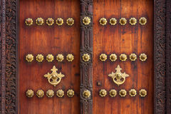 Traditional zanzibar door exterior Royalty Free Stock Photography