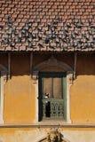 Traditionali house and Pigeon  in Kathmandu,nepal Stock Image