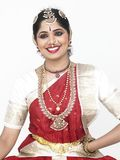 Traditionally attired asian bride. From india Stock Image