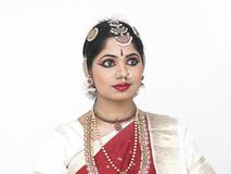 Traditionally attired asian woman. From india Stock Images