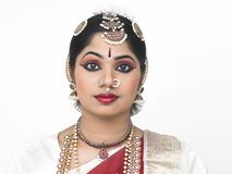 Traditionally attired asian woman. From india Stock Photos
