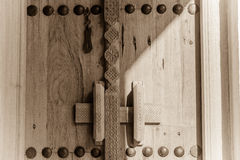 Traditionally carved arabian door Royalty Free Stock Photography
