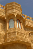 Traditionally crafted decorative stonework on a haveli Stock Photography