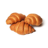 Traditionally Croissants over white Royalty Free Stock Image