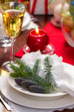 Traditionally decorated christmas plate Royalty Free Stock Photo