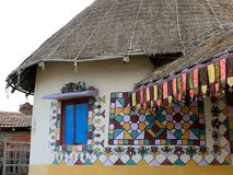 Traditionally decorated hut in India Stock Images