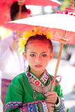Traditionally dressed girl in Royalty Free Stock Image