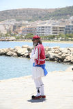 Traditionally dressed Greek man in Rethymno Royalty Free Stock Image