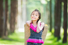 Traditionally dressed hill tribe children. In chiangmai stock images