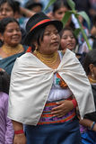 Traditionally dressed Kichwa woman in Ecuador Royalty Free Stock Image