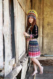 Traditionally dressed Mhong hill tribe woman Royalty Free Stock Images