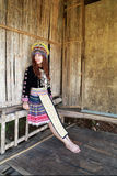 Traditionally dressed Mhong hill tribe woman Stock Photography