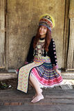 Traditionally dressed Mhong hill tribe woman Royalty Free Stock Photo