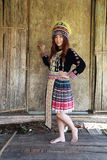 Traditionally dressed Mhong hill tribe woman Stock Images