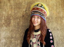 Traditionally dressed Mhong hill tribe woman Stock Photos