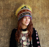 Traditionally dressed Mhong hill tribe woman Stock Image