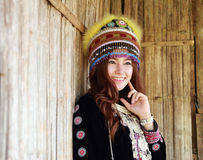 Traditionally dressed Mhong hill tribe woman Royalty Free Stock Photography