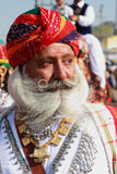 Traditionally dressed Rajasthani man royalty free stock photography