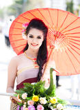 Traditionally dressed woman i Stock Image