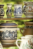 Handcrafted pots from Romania Royalty Free Stock Images