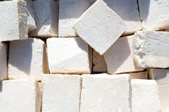 Traditionally manufactured soap win white cubes Stock Photo